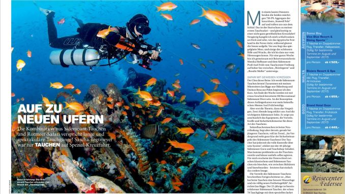Post in DIVING July 2015: My story about sidemount diving in Egypt.