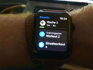 All information at a glance: The combination of Apple Watch 2 and Runtastic Results is really awesome! Photo: Sascha Tegtmeyer