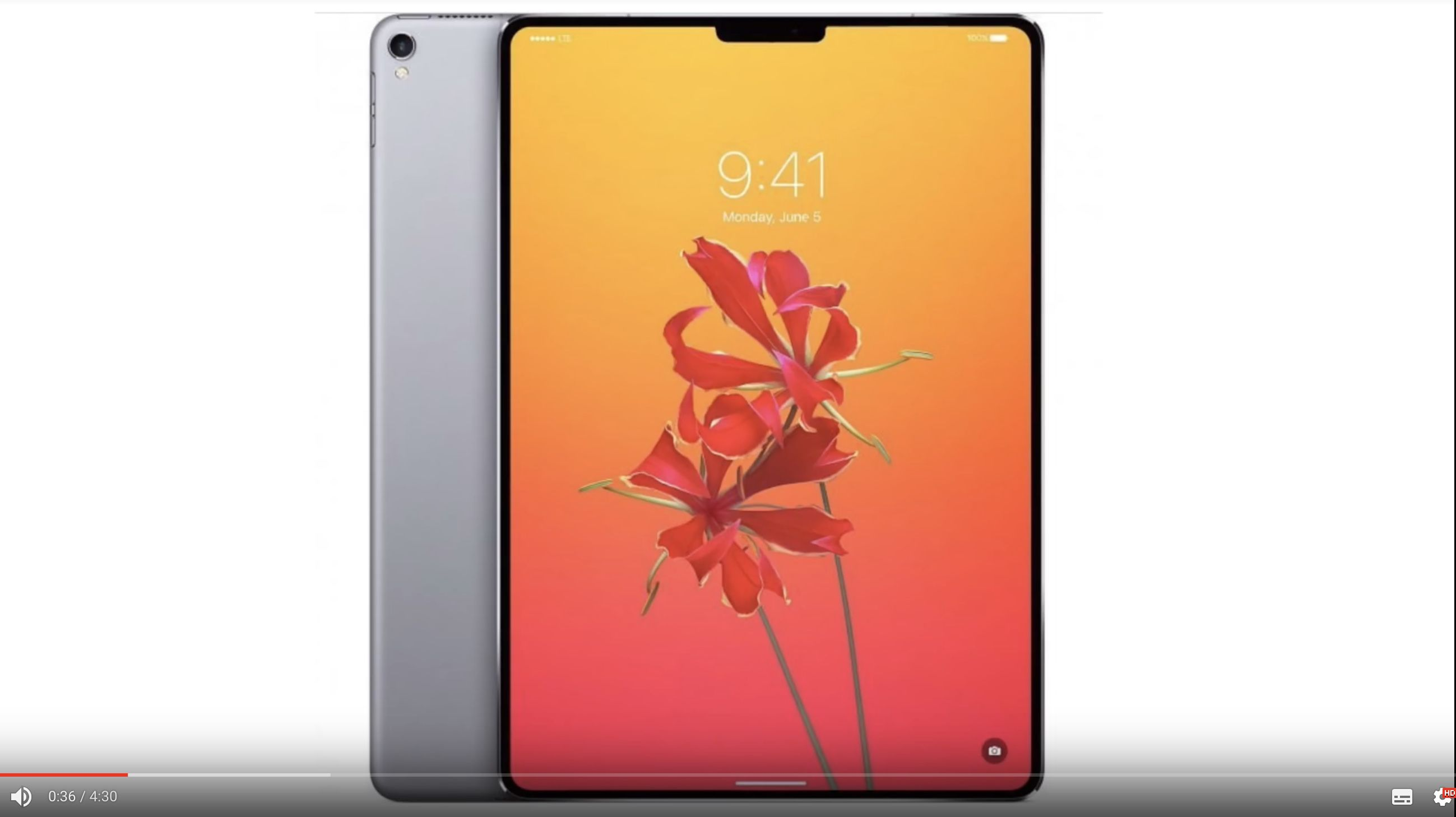 Which Apple products to buy when? The first mock ups of the iPad Pro 2018 have surfaced: If the device really looks like that, it's guaranteed to become a bestseller! Photo: Youtube
