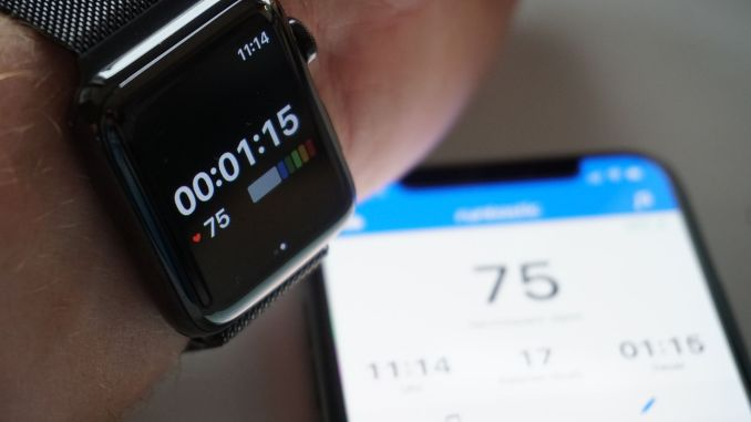 Finally: Runtastic on the Apple Watch is again usable as a second screen or standalone! Photo: Sascha Tegtmeyer