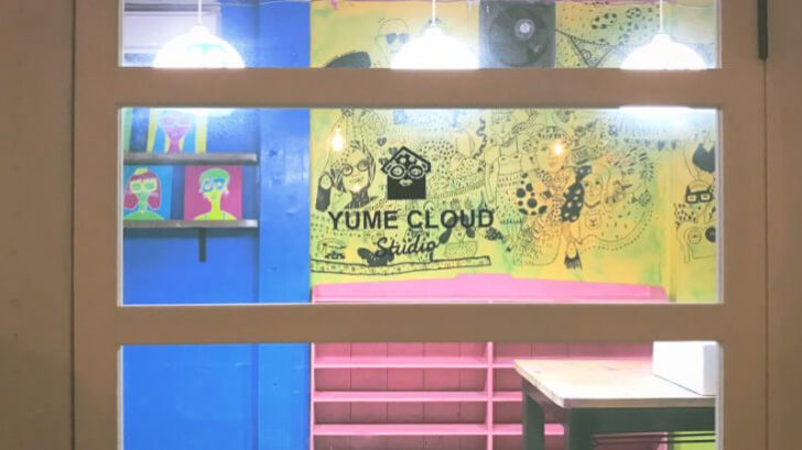 yume cloud studioのドア