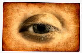 """10. """"Το Μάτι του Ντα Βίντσι"""" - το πρώτο γνωστό παράδειγμα """"αναμορφισμού"""". Ανάλογα τη γωνία που το βλέπει ο θεατής, το μάτι αλλάζει σχήμα κι έκφραση."""