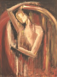 Torn, 2003. Oil on paper. Private collection.