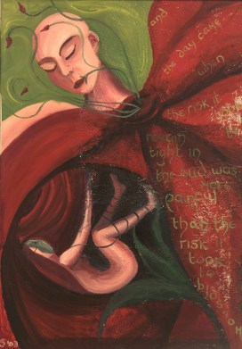 Tight in the bud. Oil on canvas, 2001.