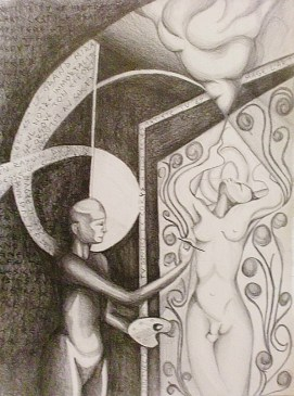 Exhortation. Pencil on paper 2013. Available for sale.