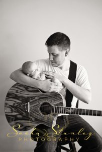 Sasha Stanley Photography : Dad and Lad : Guitar Newborn Photo : Atlanta, TX