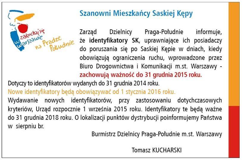 Naklejki SK ważne do końca 2015 roku!