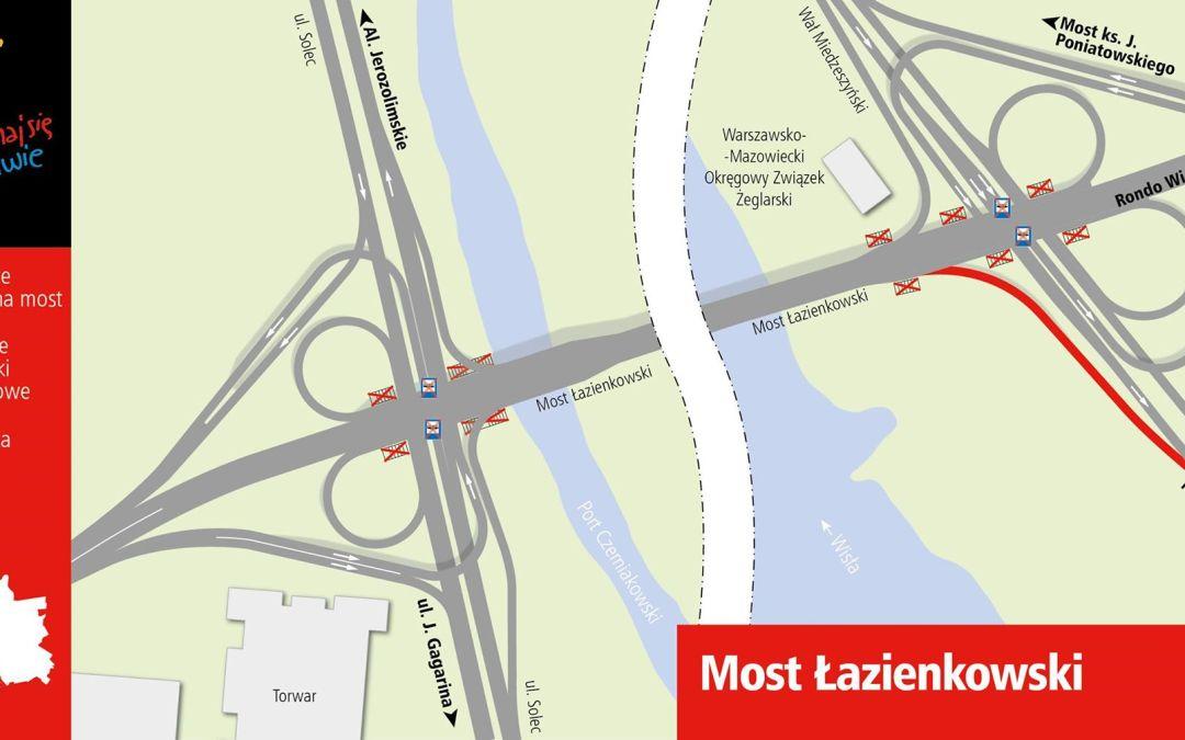 2015-10-28: otwarcie mostu Łazienkowskiego