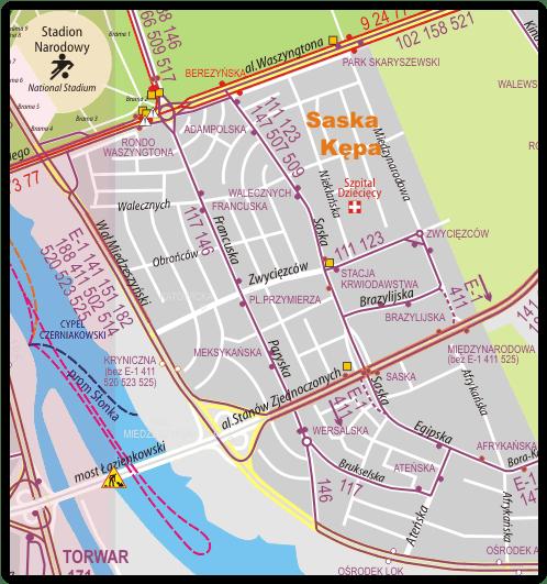 2015-10-28: zmiany komunikacyjne po otwarciu Mostu Łazienkowskiego