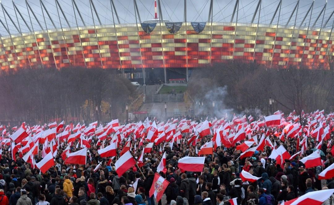 2016-11-11: marsz niepodległości – z centrum na Saską Kępę