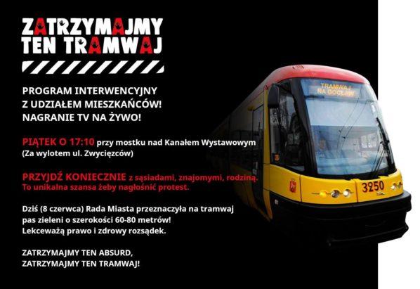 2017-06-09: protest mieszkańców ws. tramwaju