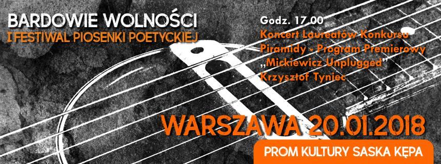 2018-01-20: I Festiwal Piosenki Poetyckiej Bardowie Wolności