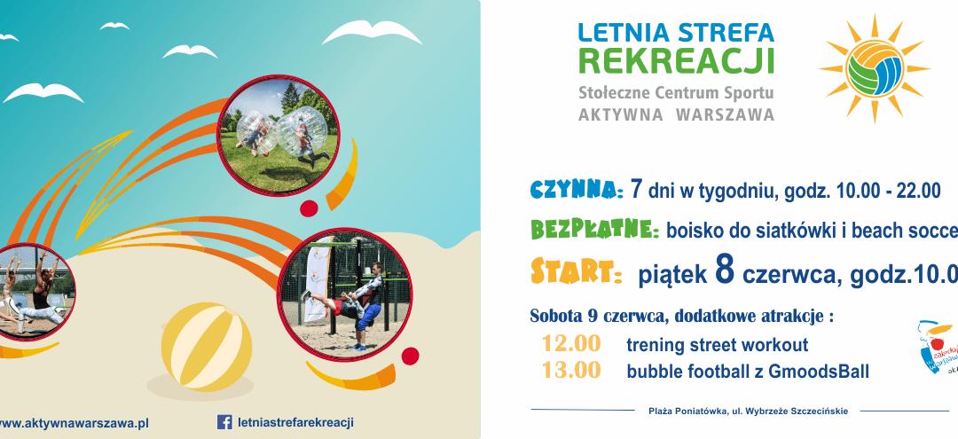 2018-06-08 do 2018-09-16: wydarzenia w strefie rekreacji na Poniatówce