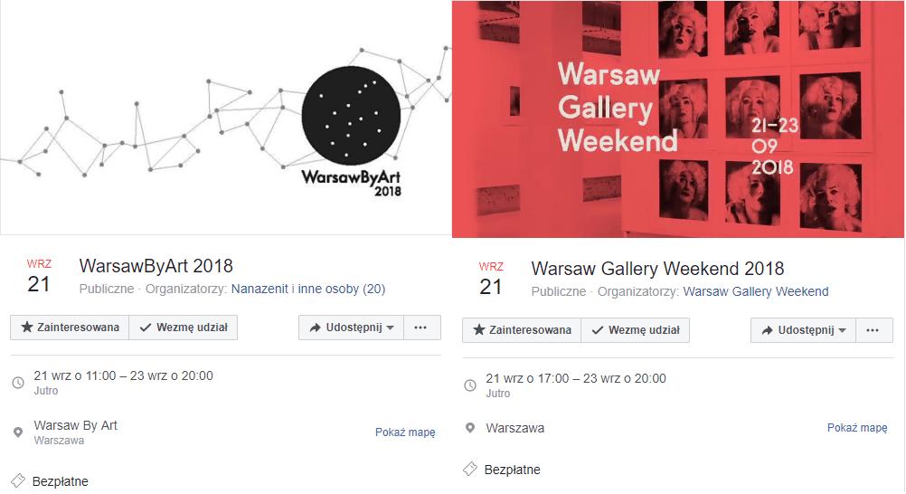 2018-09-23: WarsawByArt 2018 & Warsaw Gallery Weekend