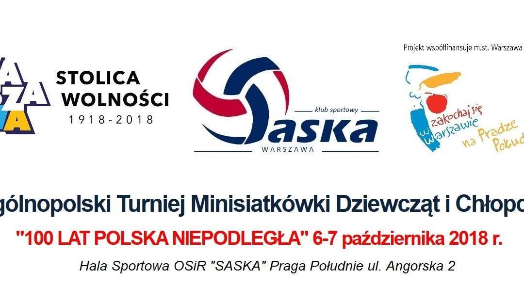 2018-10-07: I Ogólnopolski Turniej Minisiatkówki Dziewcząt i Chłopców
