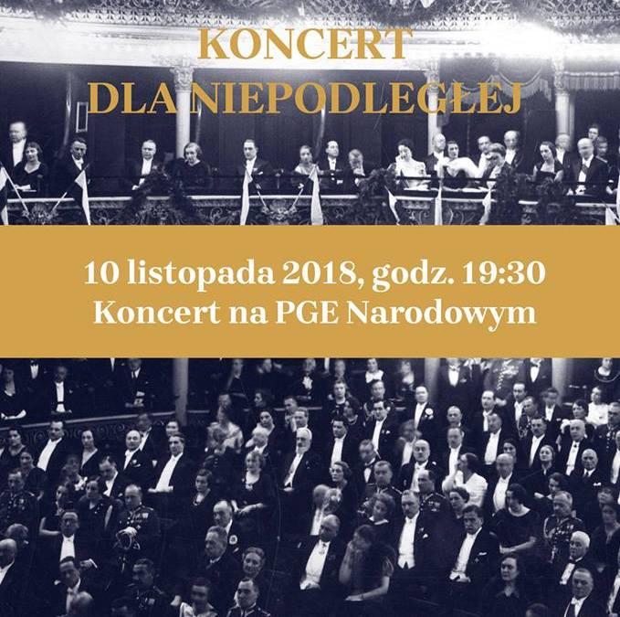2018-11-10: * Koncert dla Niepodległej *