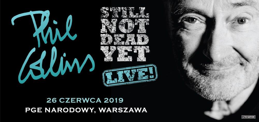 """2019-06-26: PHIL COLLINS – koncert """"STILL NOT DEAD YET LIVE"""""""