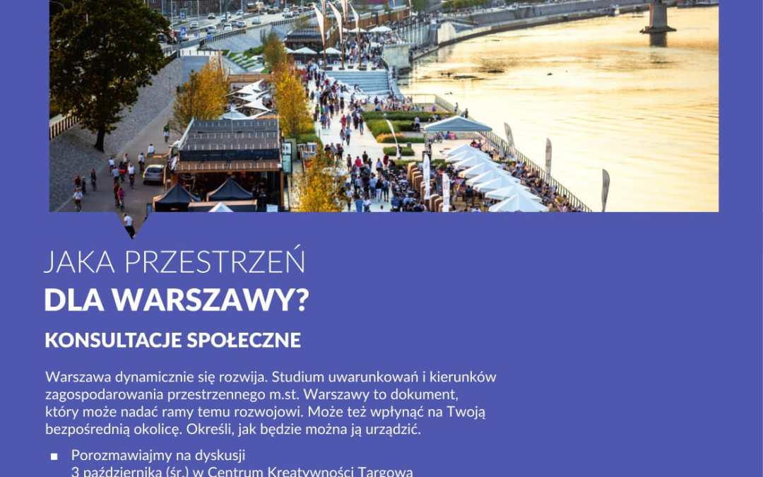 2018-11-19: konsultacje dot. studium (…) zagospodarowania przestrzennego m.st. Warszawy