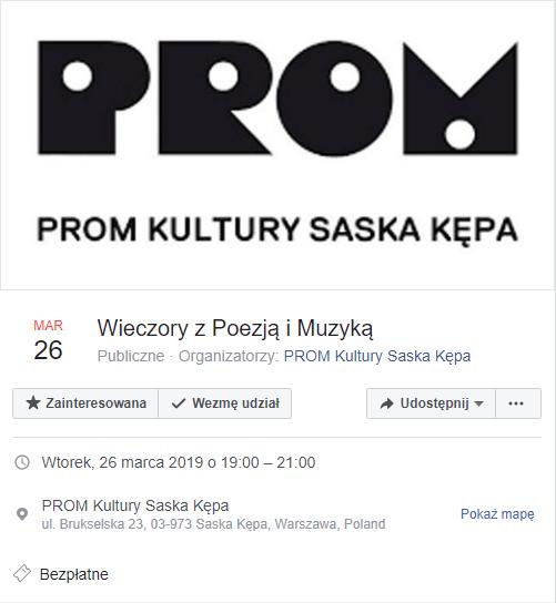 2019-03-26: Wieczory z Poezją i Muzyką