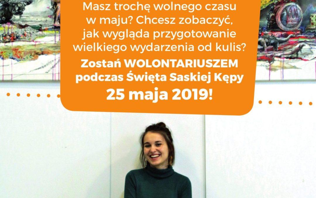 2019-04-12: kończy się rekrutacja wolontariuszy na Święto Saskiej Kępy!