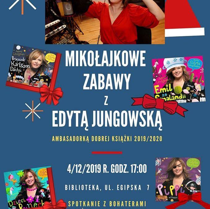 2019-12-04: Mikołajkowe zabawy z Edytą Jungowską