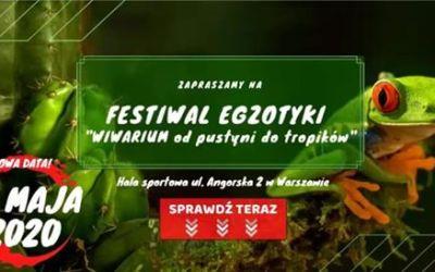 """2020-08-23: Festiwal Egzotyki """"Wiwarium od pustyni do tropików"""""""