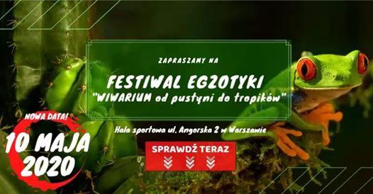 """2020-08-23: Festiwal Egzotyki """"Wiwarium od pustyni do tropików"""" – zmiana terminu"""