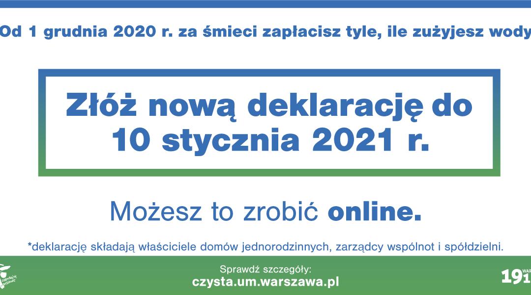 2020-12-01: Nowe opłaty za śmieci – według zużycia wody