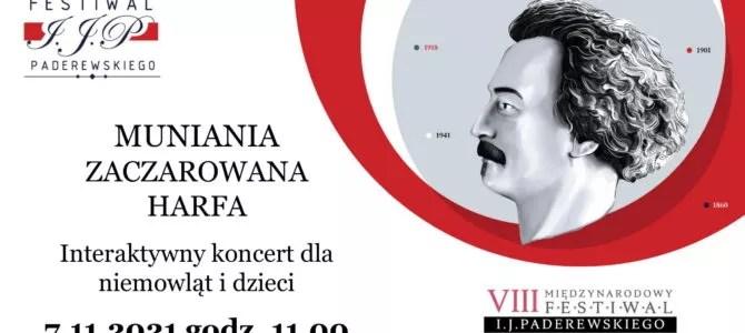 """2021-11-07: Muniania – koncert interaktywny dla niemowląt i dzieci """"Zaczarowana harfa"""""""