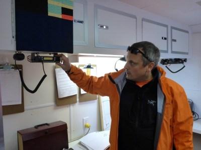 Jeff Baxter using new base station radio.