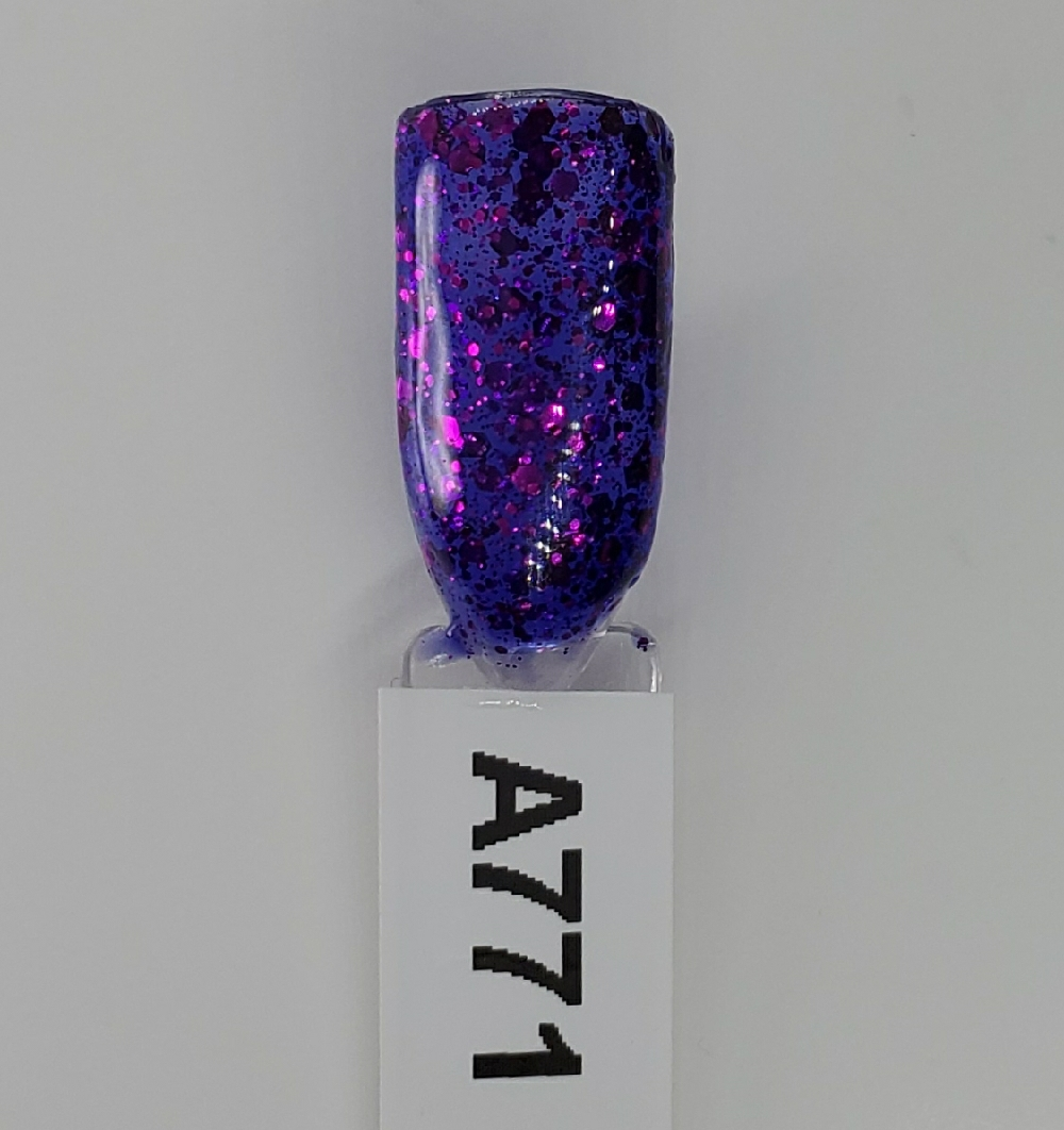 Sparkly Cosmic Purple Shellac #A771