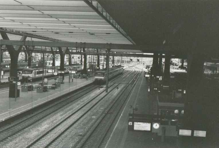 View of the tracks of Rotterdam Central Station
