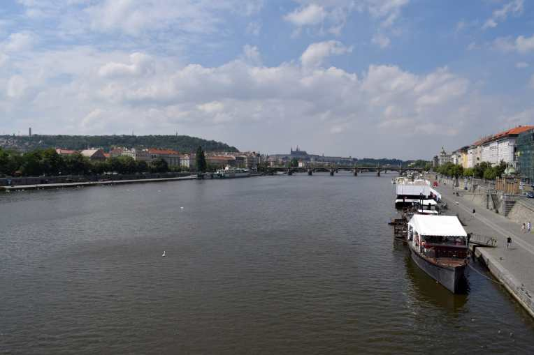 Southern banks of the Vltava river, Prague