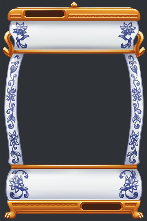 ming vase frame