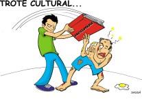 22/02/2000 - Veteranos de alguns cursos trocam o trote violento pelo trote cultural ao receber os calouros.