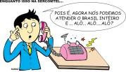 09/03/2002 - Telefones da cidade sofrem pane.