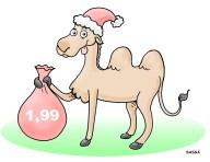 Camelôs lucram na época de natal.