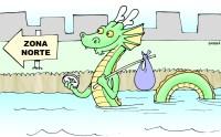 O monstro do lago Nedson procura outro habitat na cidade.