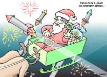 Natal em plena guerra no oriente médio.