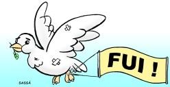 Pombinha branca da paz.