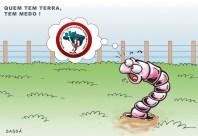 Movimento dos sem-terra invadem fazendas na região.