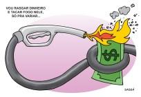 Gasolina aumenta de preço.