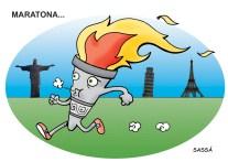 Peregrinação da tocha olímpica.