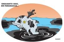 derramamento de óleo em paranaguá.