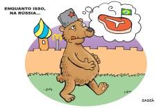 Rússia embarga carne brasileira.