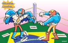 Briga entre candidatos