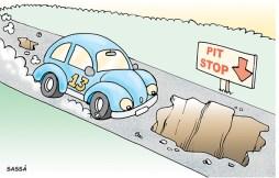 17 de março Londrina sofre com buracos no asfalto.