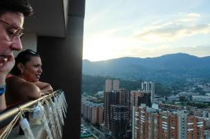 The view of Medellín from the 26th floor in Sabaneta