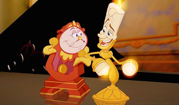 Cogsworth and Lumiere in the 1991 original Disney movie (Photo: Disney)