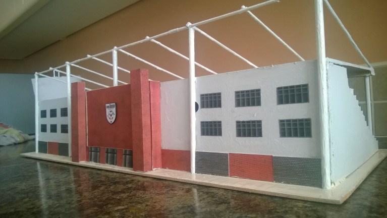 Football stadium model